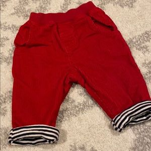 Red Corduroy Lined Pants